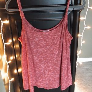Red twist-strap tank top